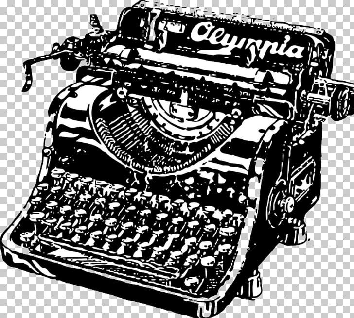 Máquina de escribir dibujo de papel, máquina de escribir PNG.