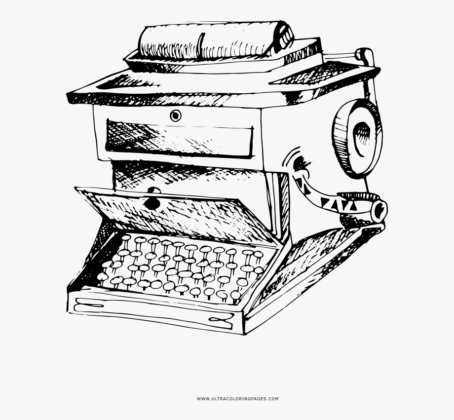 First Typewriter Coloring Page.