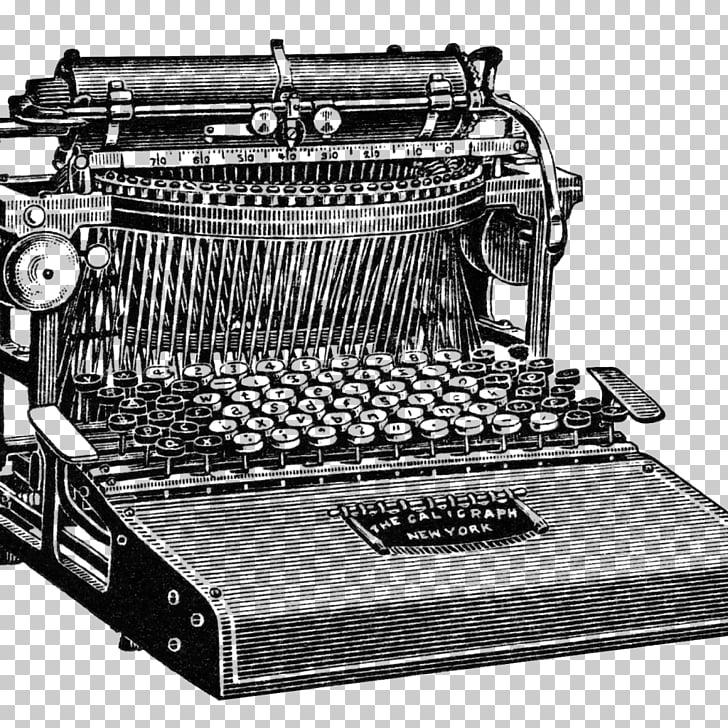 Máquina de escribir papel publicidad volante, máquina de.