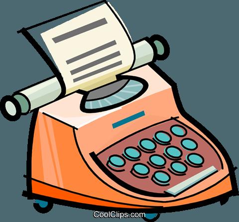 Máquina de escribir libres de derechos ilustraciones de.
