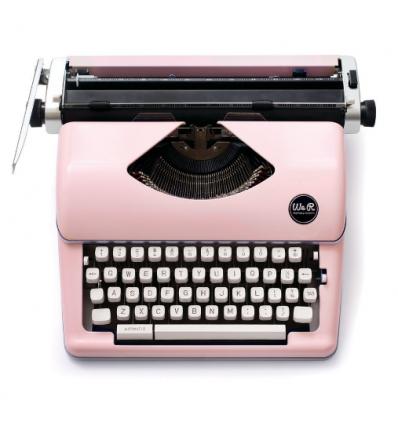 Máquina de escribir Typecast Rosa.