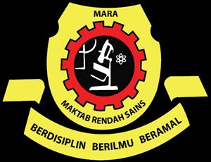 Maktab Rendah Sains Mara Logo Vector.