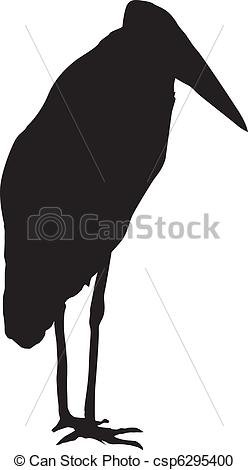 Vector Clipart of marabou.