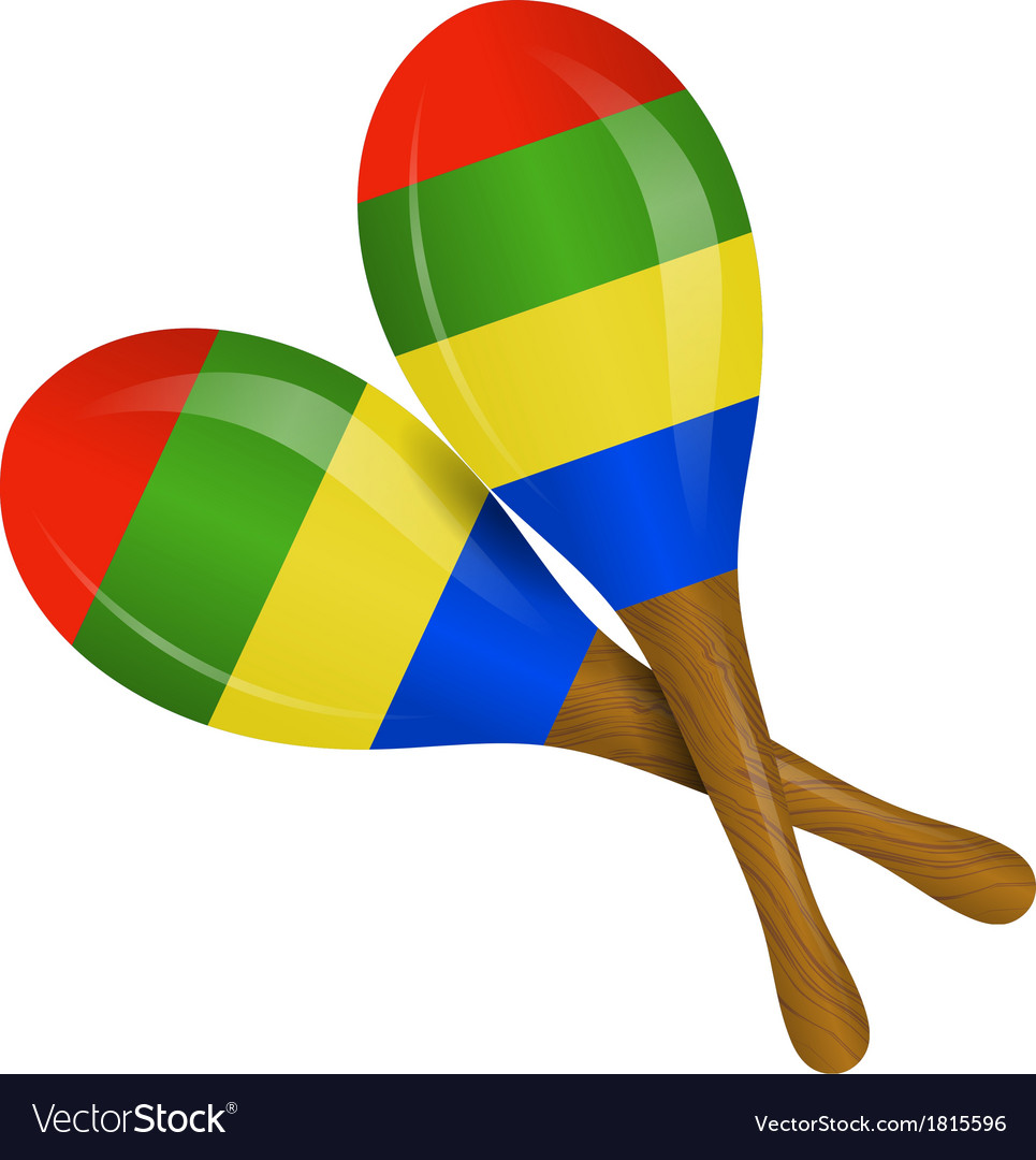 Image of maracas on a white background.
