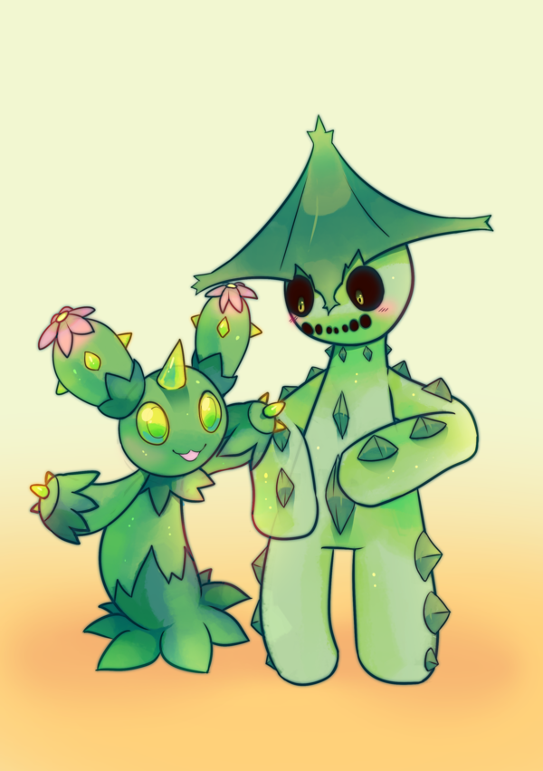 Maractus and Cacturne by pekou on DeviantArt.