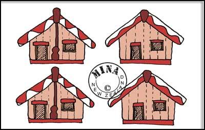 Maori Printables: Marae Sticker Page.