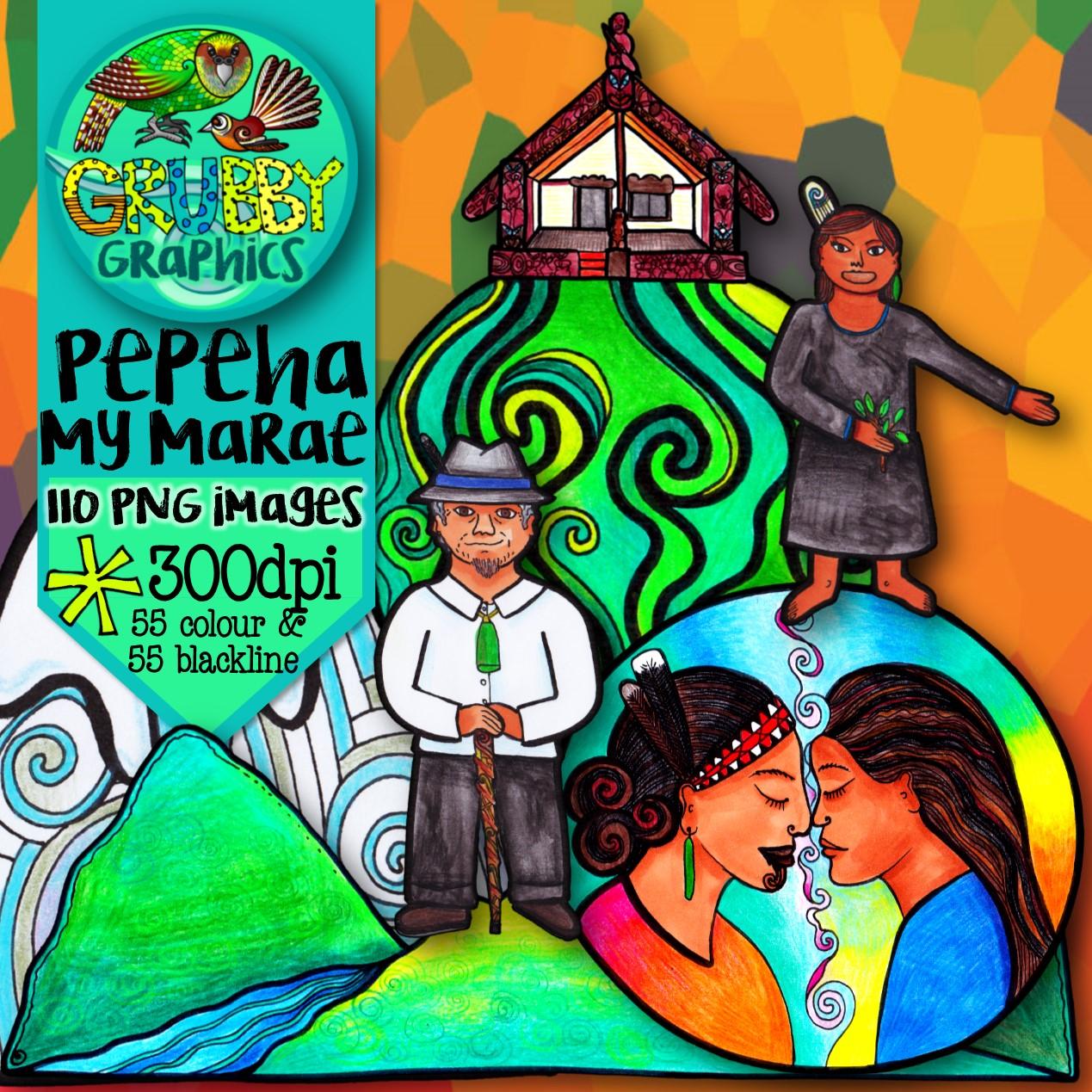 Marae & Pepeha {Clip Art}.