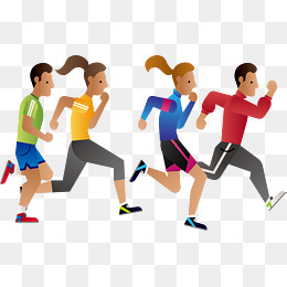 Marathon Running, Vector Png, Run, Runne #69246.