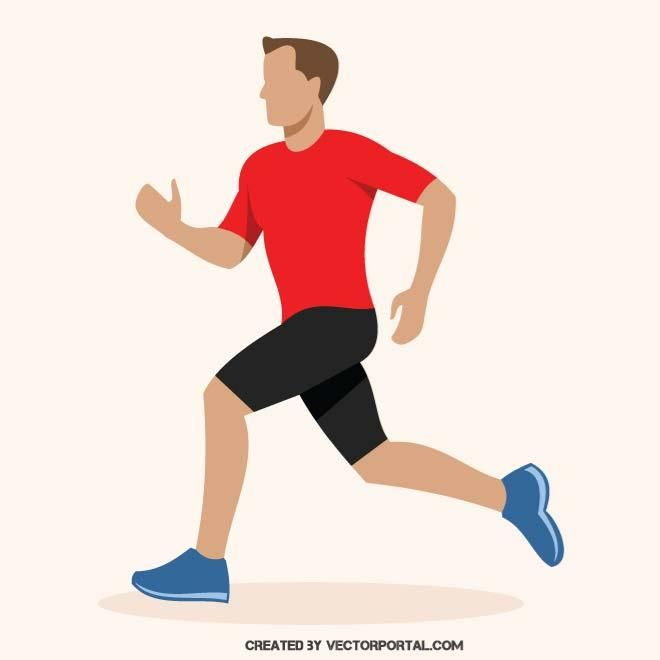 Vector image of a runner..