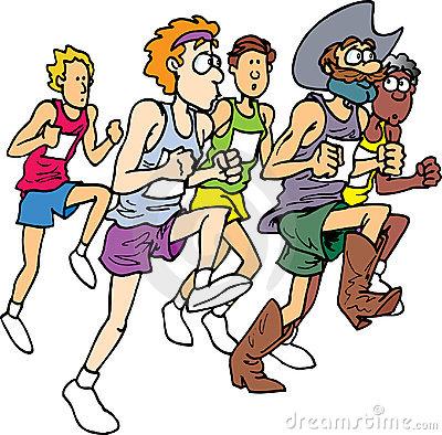 Marathon Running Clipart.