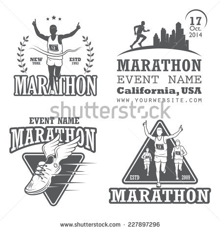 Runner Logo Stock Images, Royalty.