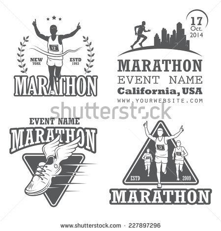 Runner Logo Stock Images, Royalty.