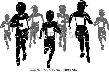 Running Race Stock Images, Royalty.