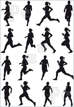 female track runner clip art.