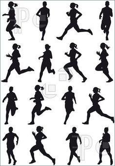 female track runner clip art.