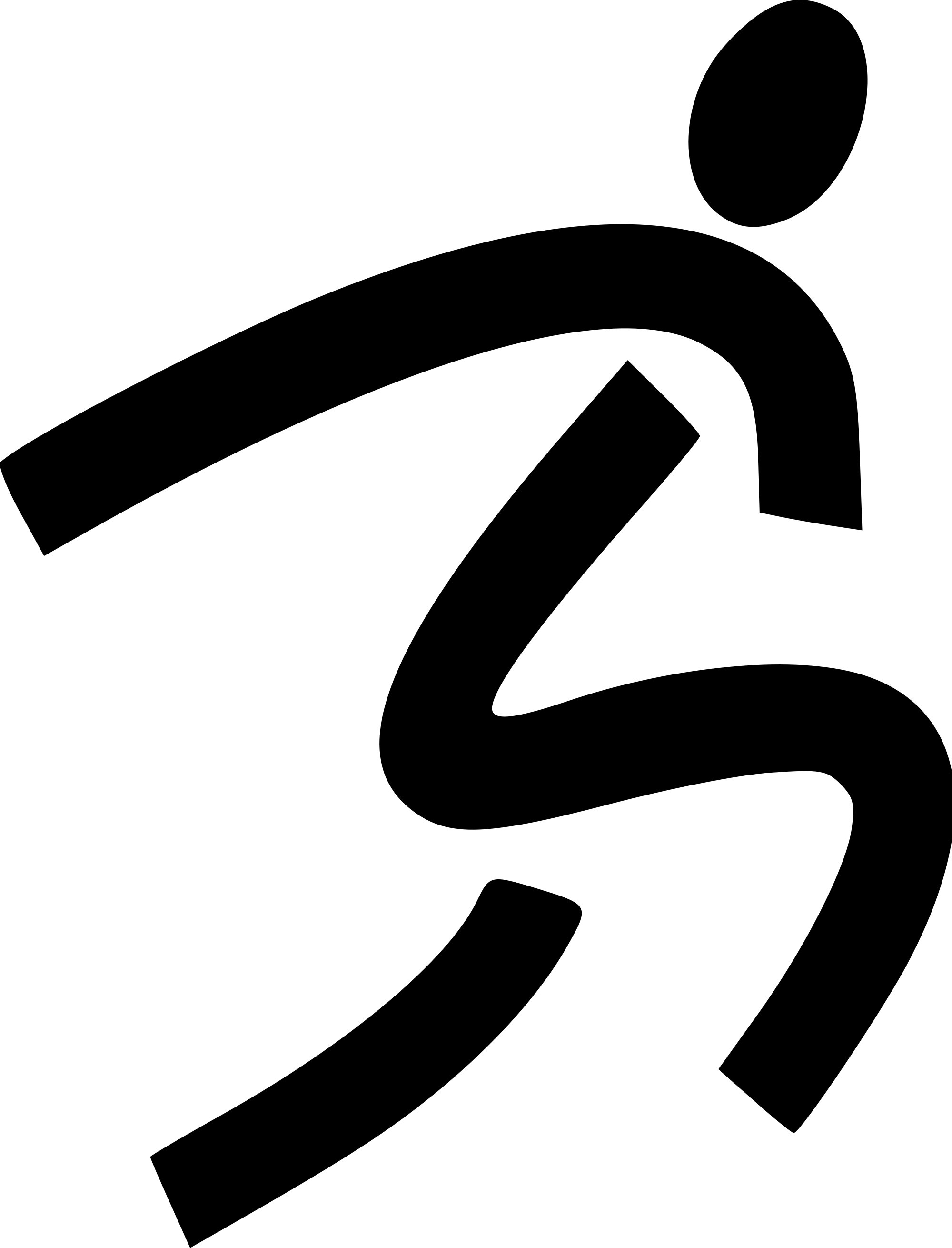 Clipart stick man with running shoes.