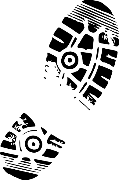 Run Shoe Print Clip Art: text in the middle can say