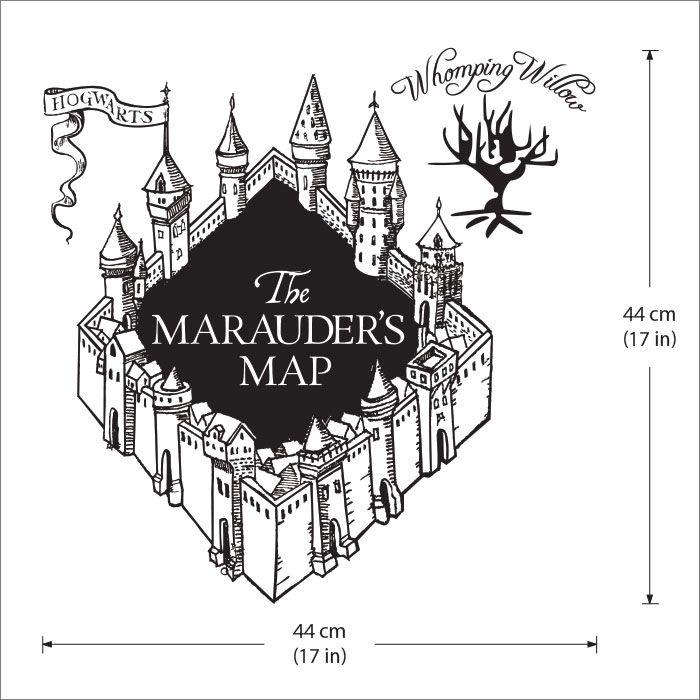 Karte des Rumtreibers Harry Potter v3 Wandaufkleber.