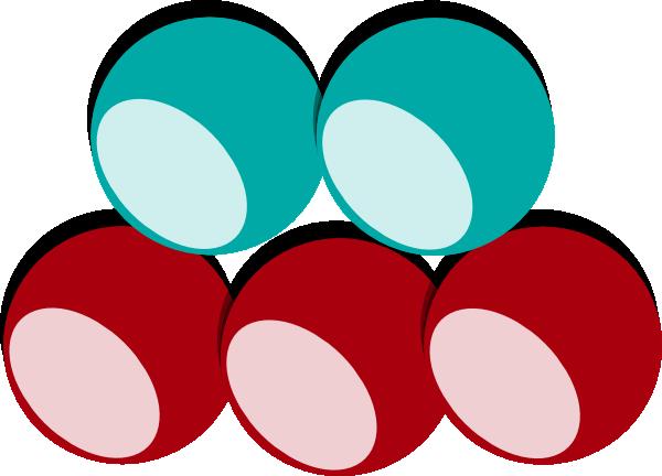5 Balls 2 Colors Clip Art at Clker.com.