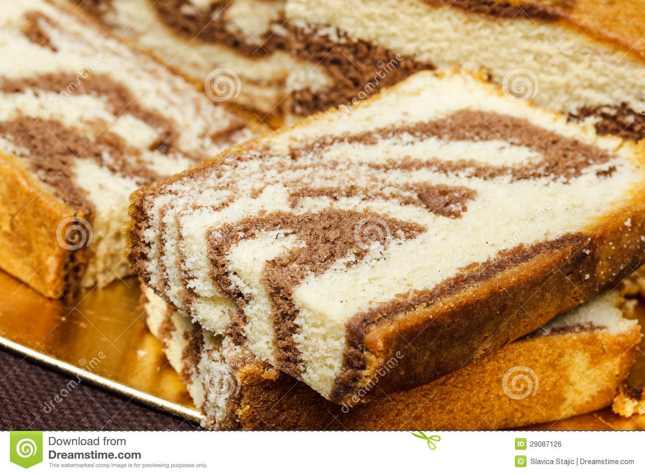 Marble Cake Royalty Free Stock Image.