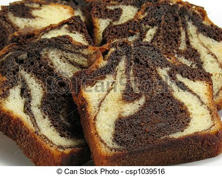 Stock Image of Chocolate Marble Cake.