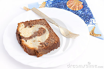 Marble Cake Bake Sweet Dessert Stock Photography.
