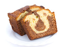 Marble Cake Bake Sweet Dessert Stock Images.