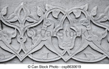 Stock Illustration of Ottoman Marble Carving.