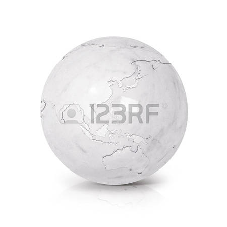 World map two spheres clipart.
