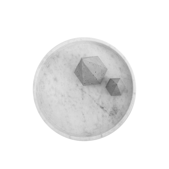 Minimalist Natural Marble Round Tray.