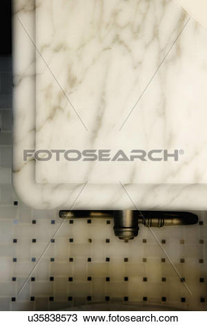 Stock Photo of Detail of marble countertop; Aliso Viejo.