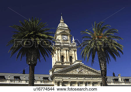 Stock Photo of cape, city, facade, marble, hall, tower u16774544.