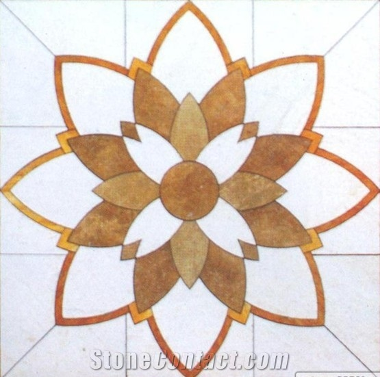 Cheap Professional Marble Hall Waterjet Floor Meda from China.