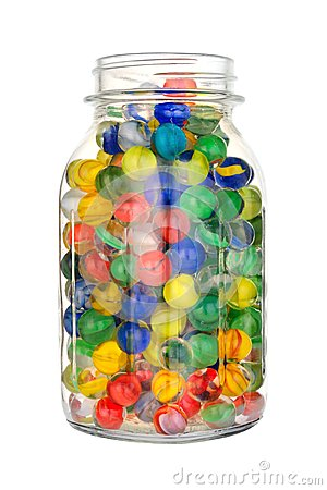 Jar Of Marbles Clipart.
