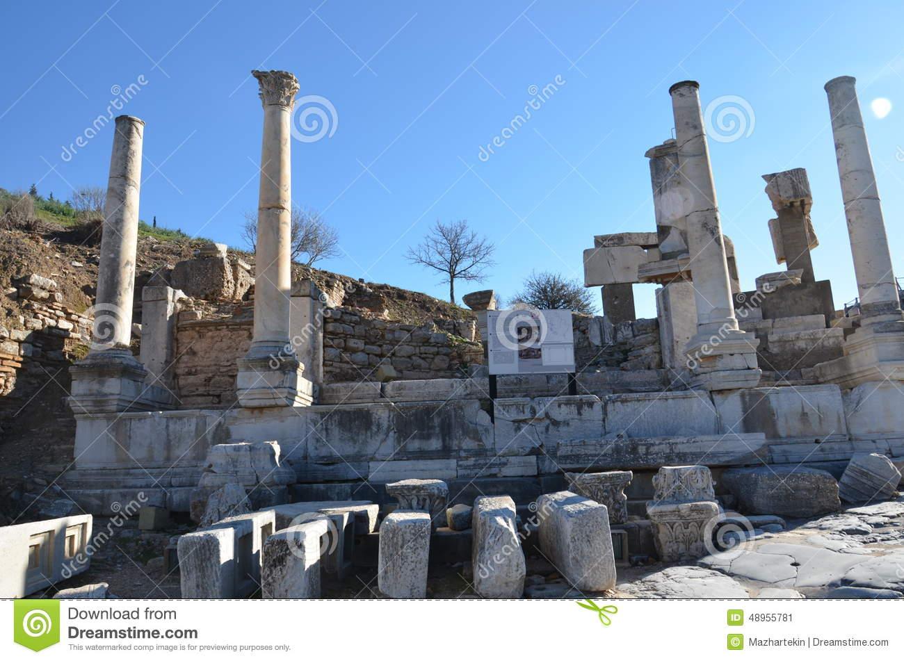 Turkey, Izmir, Bergama In Ancient Greek Hellenistic Bath, This Is.