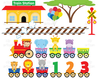 Baby train clipart.