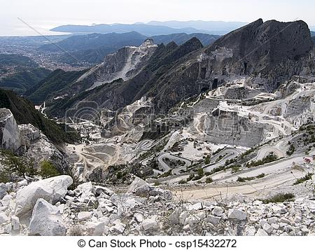 Picture of Carrara marble quarries, Italy.
