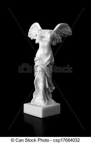 Stock Photos of The Victory of Samothrace is a marble sculpture of.