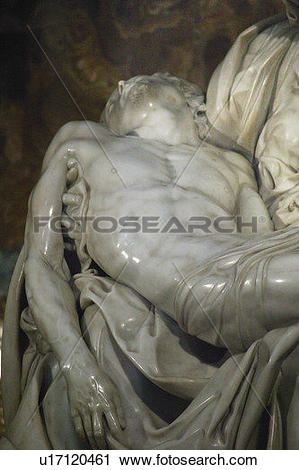 Stock Photography of Pieta marble sculpture by Michelangelo (1499.