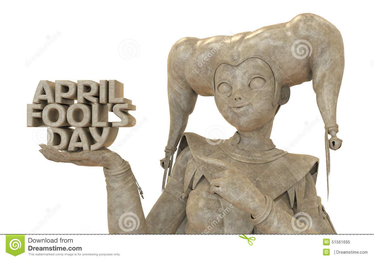 April Fool's Day Clipart Stock Illustration.