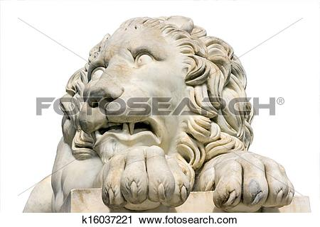 Stock Photography of Lion marble sculpture in Vorontsov Palace.