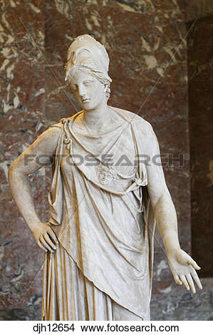 Stock Photo of France, Paris, Louvre Museum, Marble Statue of.