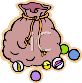 Royalty Free Clip Art Image: Sack of Marbles.