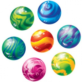 Playing Marbles Clip Art.