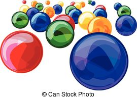 Clipart Vector of marbles.