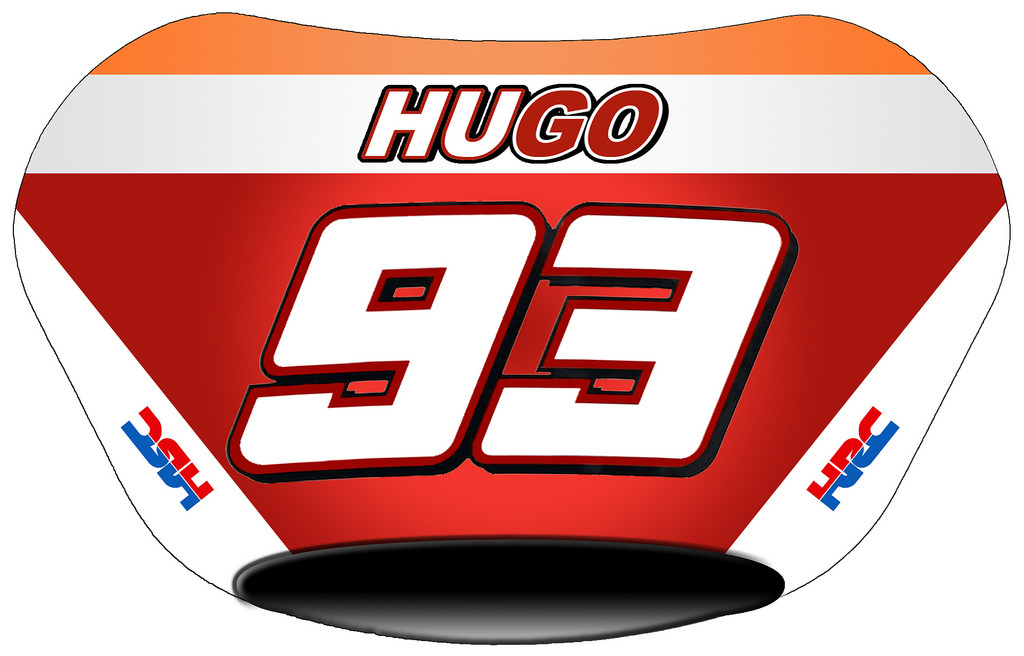 Marc Marquez number plate.