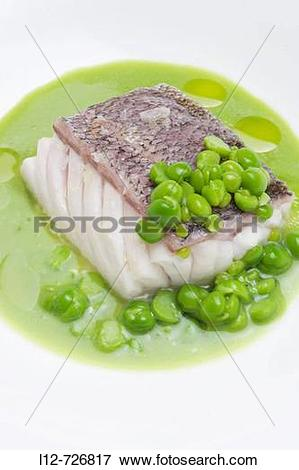 Picture of Hake in peas sauce at restaurant Casa Marcelo by.