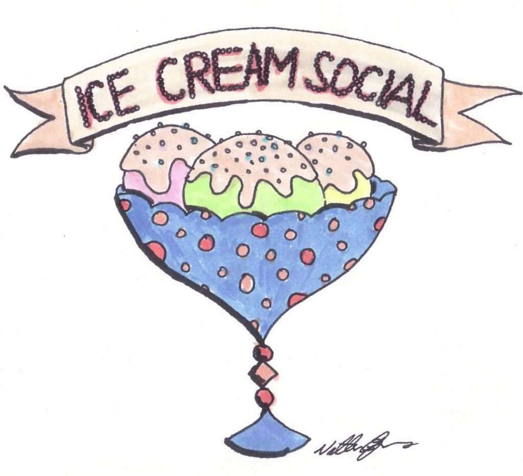 Old fashion icecream sunday clipart.