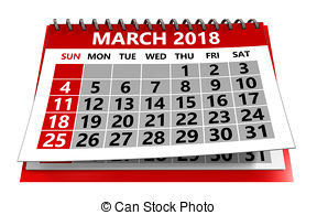 Calendar of march Clipart and Stock Illustrations. 4,533.