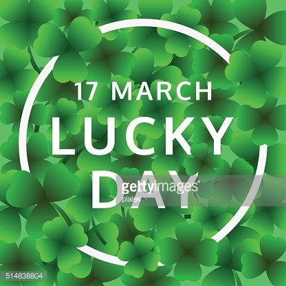 Happy St.Patrick\'s day, 17 March Lucky Day, vector.